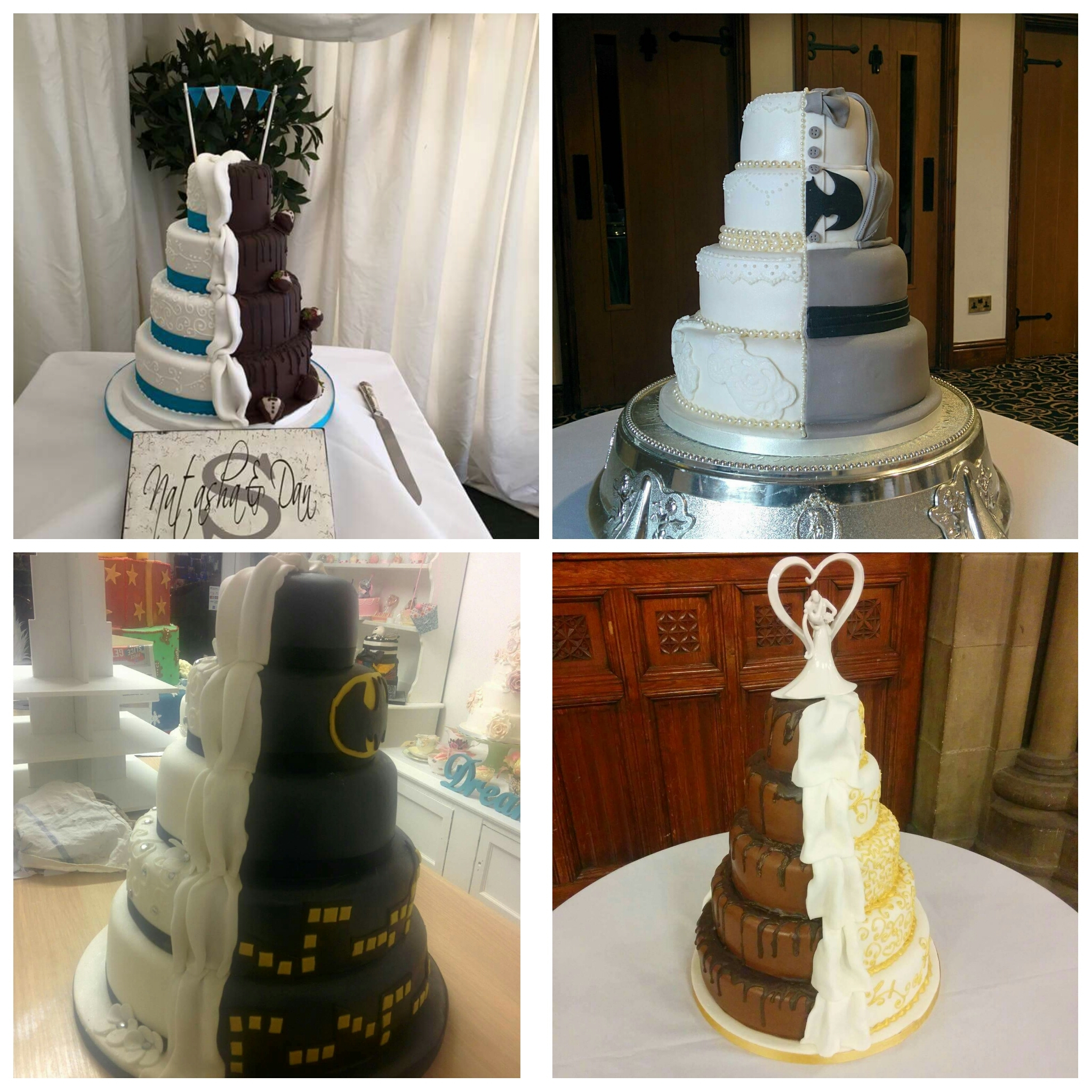 Rise of the 50/50 wedding cakes