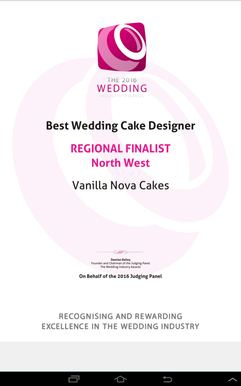 We're finalists in the Wedding Industry Awards