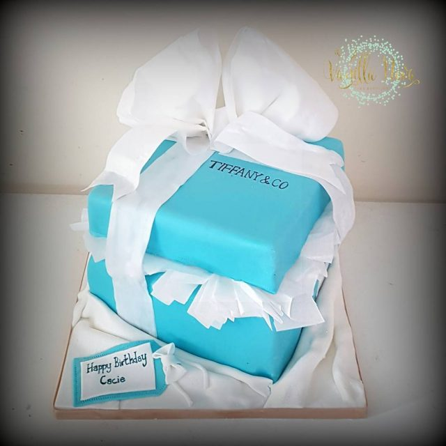 Tiffany box birthday cake for a lovely lady who hadhellip